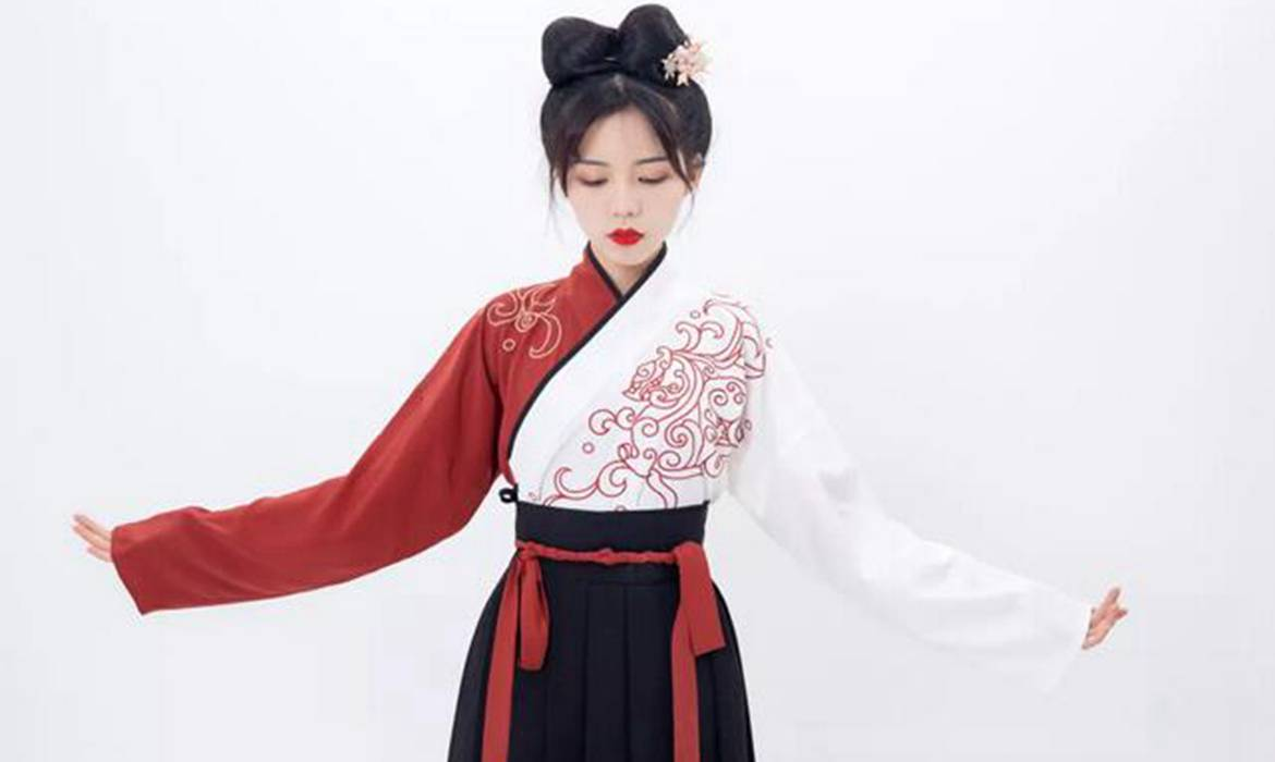 Dressing Course – How To Wear A Cross Collar Hanfu Dress Quickly