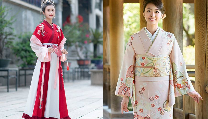 What is the difference between Chinese Hanfu and Japanese kimono