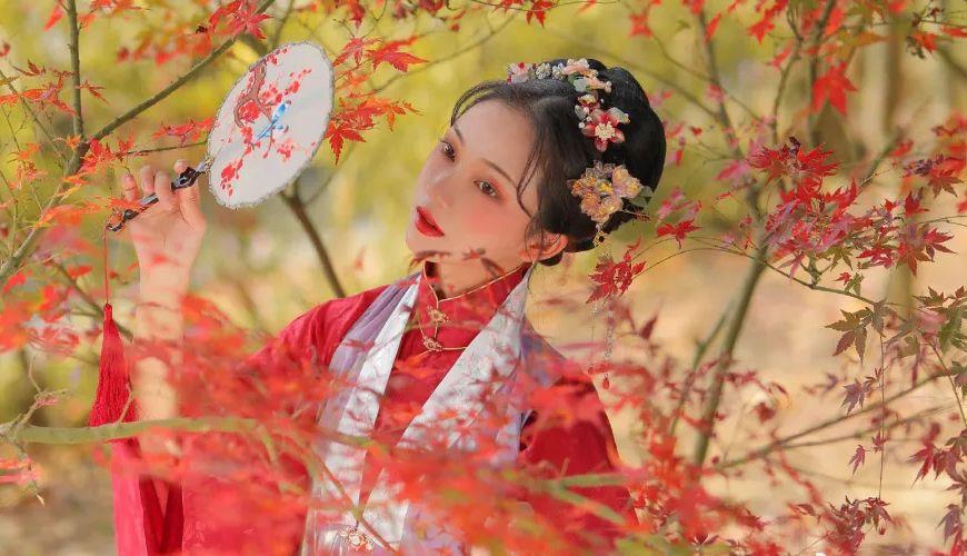 Autumn Maple Leaf Hanfu Photography | FashionHanfu Photography