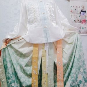 Ming Dynasty Hanfu Woman Chinese Traditional Dress Three-Piece Suit photo review
